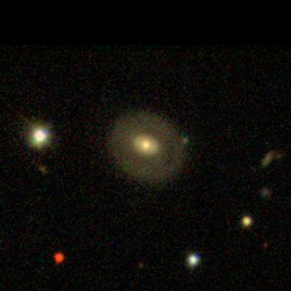 An SDSS image of a galaxy.
